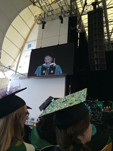 The author Lois Lowry was one of our commencement speakers and she gave a fantastic speech about the power of one's voice.
